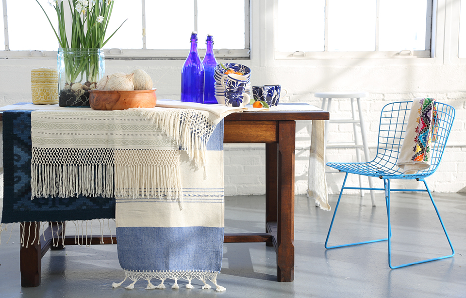 Blue Dining Room Design from Oaxaca, Mexico