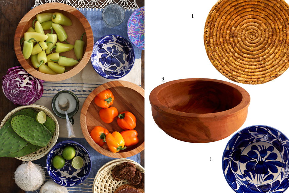Wooden Fruit Bowls from Oaxaca, Mexico