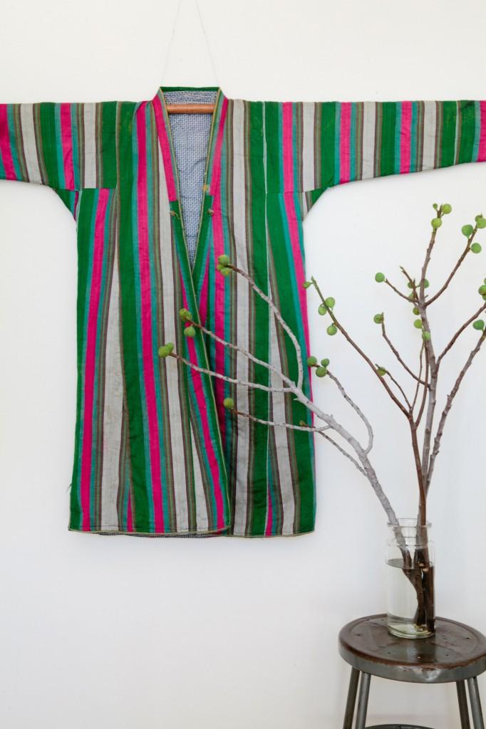 Mid century silk coat from Uzbekistan